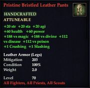 Pristine Bristled Leather Pants