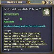 Alchemist Essentials Volume 39