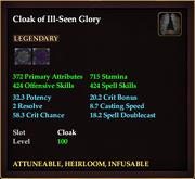 Cloak of Ill-Seen Glory