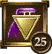 Icon Achievement purple triangle medal2 25