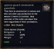 Qeynos guard ceremonial gauntlets