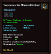 Vambraces of the Abhorrent Sentinel