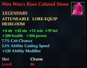 Wen Wen's Rose Colored Stone