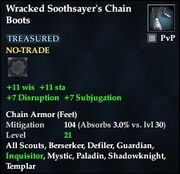 Wracked Soothsayer's Chain Boots