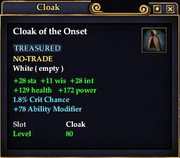 Cloak of the Onset