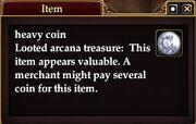 Heavy coin
