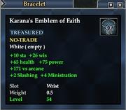 Karana's Emblem of Faith