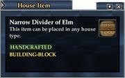 Narrow Divider of Elm