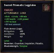 Sacred Prismatic Legplates