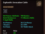 Zaphardt's Invocation Cable