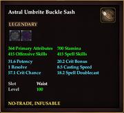 Astral Umbrite Buckle Sash