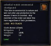 Celestial watch ceremonial chestguard