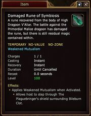 Damaged Rune of Symbioisis