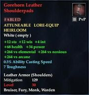Gorehorn Leather Shoulderpads