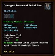 Gruengach Summoned Etched Boots