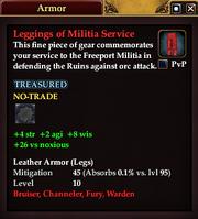 Leggings of Militia Service