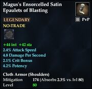 Magus's Ensorcelled Satin Epaulets of Blasting