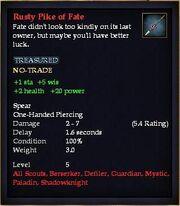 Rusty Pike of Fate