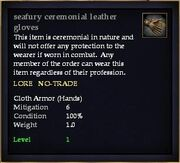 Seafury ceremonial leather gloves