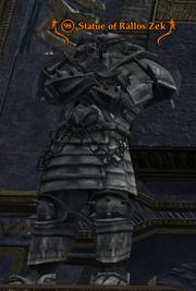 Statue of Rallos Zek