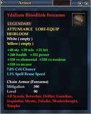 Ydalium Bloodlink Forearms