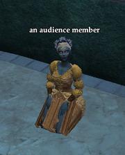 An audience member