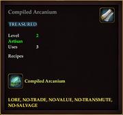 Compiled Arcanium (Recipe)