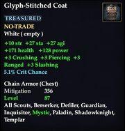 Glyph-Stitched Coat