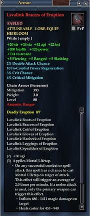 Lavalink Bracers of Eruption