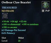 Owlbear Claw Bracelet