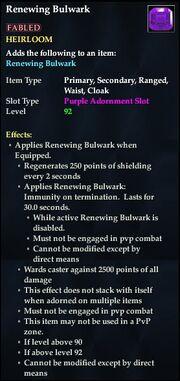 Renewing Bulwark