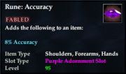 Rune- Accuracy