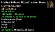 Tailored Waxed Leather Boots