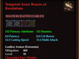 Tempered Azure Bracers of Revelations