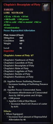Chaplain's Breastplate of Piety
