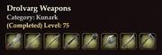 Drolvarg Weapons