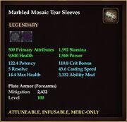 Marbled Mosaic Tear Sleeves
