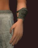 Mentor's Dark Silk Wrist Wraps (Equipped)