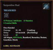 Serpentine Rod