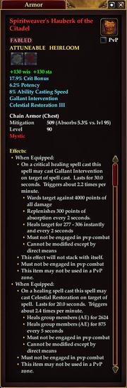 Spiritweaver's Hauberk of the Citadel