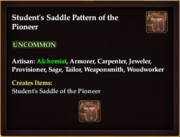 Student's Saddle Pattern of the Pioneer