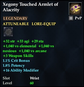 Xegony Touched Armlet of Alacrity | EverQuest 2 Wiki | FANDOM