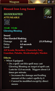 Blessed Iron Long Sword