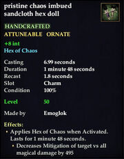 Chaos imbued sandcloth hex doll