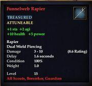 Funnelweb Rapier