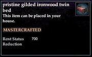 Gilded Ironwood Twin Bed