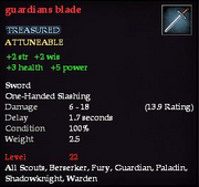 Guardians blade