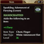 Sparkling Adornment of Parrying (Lesser)