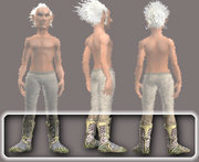 Spiritualist's Chain Boots (Equipped)