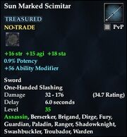Sun Marked Scimitar